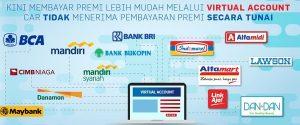 Pembayaran melalui Bank Terbesar di Indonesia Bank BCA, Bank BRI, Bank Mandiri, Bank Mandiri Syariah, Bank Danamon, CIMB Niaga, Bukopin dan Minimarket Alfamart, Alfamidi, Lawson, DAN-DAN serta Link Aja