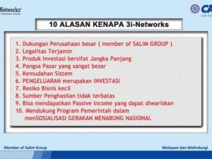 Alasan Kenapa Ikut daftar CAR 3i Networks